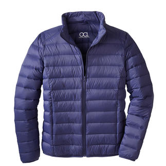 Recycled Down Quilted Jacket for Men Plenty of warmth. Little weight. And a good conscience. Fashionable and rare jacket made from recycled down.