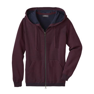 Seldom Double-faced Women's Cardigan A great feeling throughout the year: Fine merino wool on the outside, soft Giza cotton on the inside.
