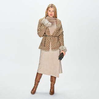 Ultra Low Luxe Wrap Style Cardigan A high-fashion piece lovingly made by hand: The wrap-style cardigan by Ultra Low Luxe.