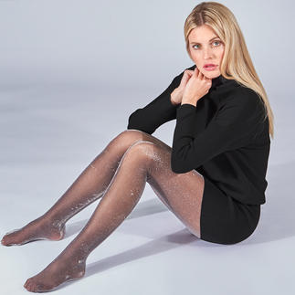 Oroblu Sparkling Tights Party trend: Sparkling tights. Our favourites: these ones from Oroblu, Italy. Top quality.