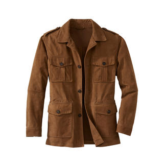 Washable Leather Field Jacket Your leather jacket for the summer – and for the washing machine.