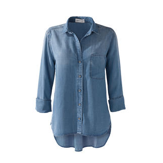 Bella Dahl jeans blouse The favourite jeans blouse of stars and celebrities: Made of super soft Tencera™.