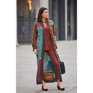 M Missoni Mohair Maxi Coat Fashion piece of art par excellence: Mohair knitted maxi-coat from couture knitwear label M Missoni.