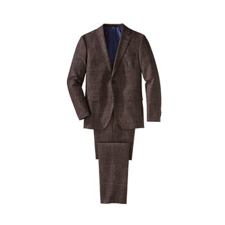 Versatile Suit With Prince-of-Wales Check The all-rounder in fashionably patterned suits is made of fine cloth with a Prince-of-Wales check.