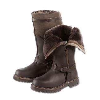 Pilot Shearling Boot These pilot shearling boots keep your feet warm and dry – even at -15°C.