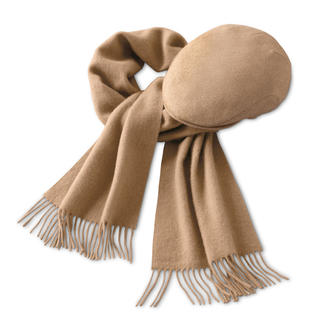 Camel Hair Hat or Scarf Wonderfully soft and warm. Also ideal for sensitive skin. Hat and scarf made of fine camel hair.