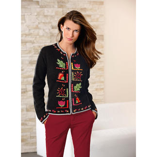 """Baby Lama Cardigan """"Isabel"""" A work of art from the Andes. Hand-embroidered and hand-knitted in 7 colours."""