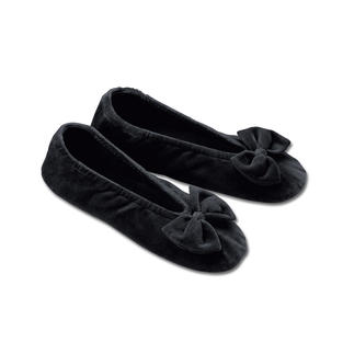 Velvet Ballerina Slippers Super comfy slippers – as elegant as ballerina pumps.
