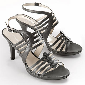 Lorbac Strap Sandals, Grey An elegant sandal. Unexpectedly comfortable. A foam core shapes your own individual footbed.
