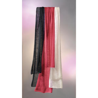 Airy Shawl Your finest, most delicate shawl weighs a mere 0.7oz, is soft and even keeps you warm.