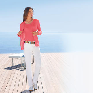 MicroModal®-Twinset A twinset could hardly be any lighter and softer.Only weighs 3.5oz.In delicate MicroModal® with added cashmere