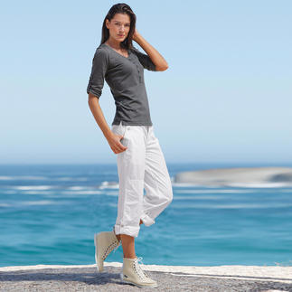 "Aigle Outdoor Trousers ""Pure Cotton"" Rare, versatile and less trouble than you might think: White outdoor trousers."