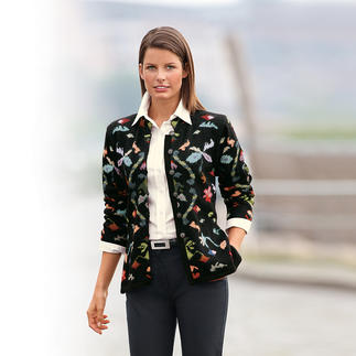 "Alpaca Cardigan ""Flowers"" The work of art from the Andes. Cardigan in precious alpaca. Hand knitted in 33 colours."