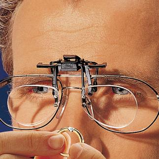 Magnifying Clip Theses magnifying lenses clip onto your spectacles for 2½ x magnification.