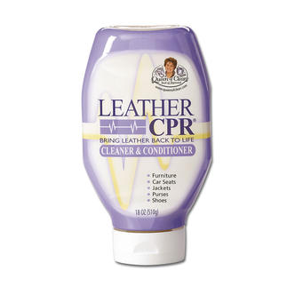 """Leather CPR"" Restores deep colour and shine."