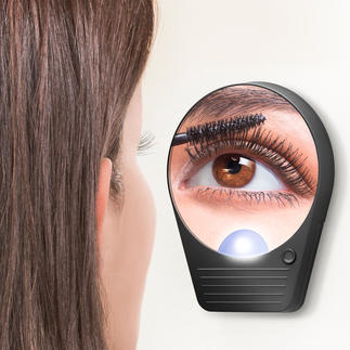 Magnifying Mirror The illuminated pocket mirror with 10-fold magnification – and no distortion.