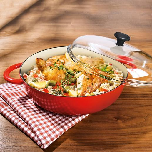 Cast iron roasting pan The professionals' unbeatable classic – the cast iron pan.