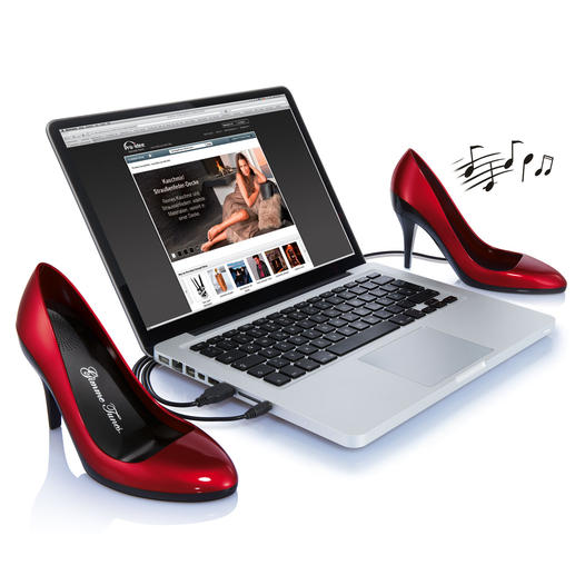 PC Loudspeaker High Heels Speakers for PC, laptop or media player. With 3.5mm stereo jack and USB port.