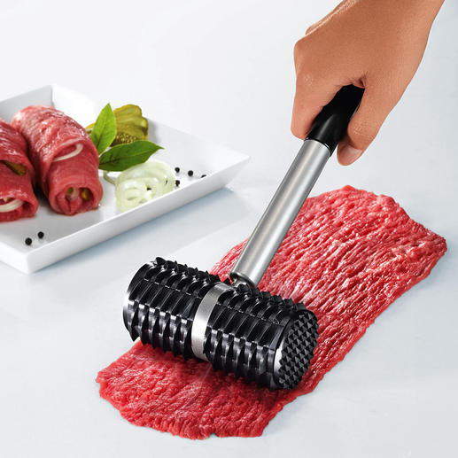 """Shark""ˮMeat Roller - Can also be used as a traditional meat tenderiser with 2 profiles."