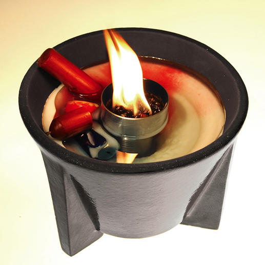 The Wax Melter even makes leftover candle stubs burn with an intense flame.