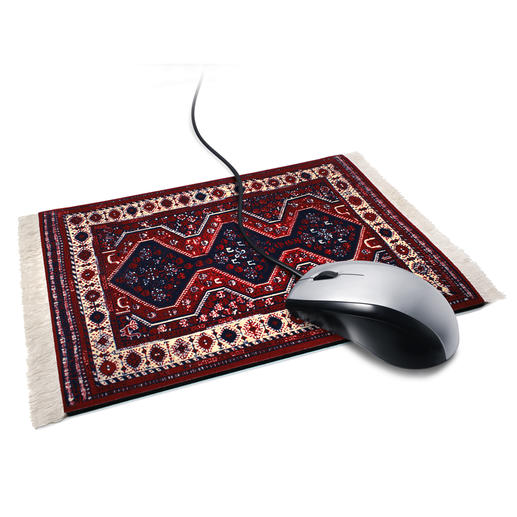 "Mouse Pad ""Sigmund Freud's Rug"" - Sigmund Freud's famous couch rug: Probably the most remarkable workplace for your computer mouse."