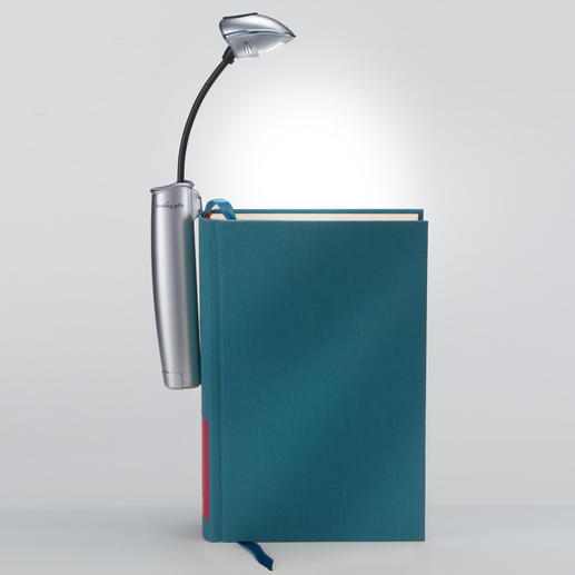 Unlike most book lights, you can clip this one to the book spine and evenly light up both book pages.