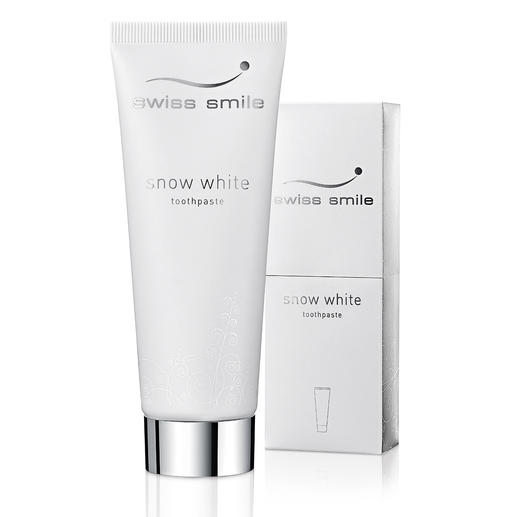 "swiss smile Whitening Toothpaste or ""Pearl Shine & Repair Conditioner"" Brilliant pearly whites. Without aggressive abrasives, chemical brighteners, or peroxide."