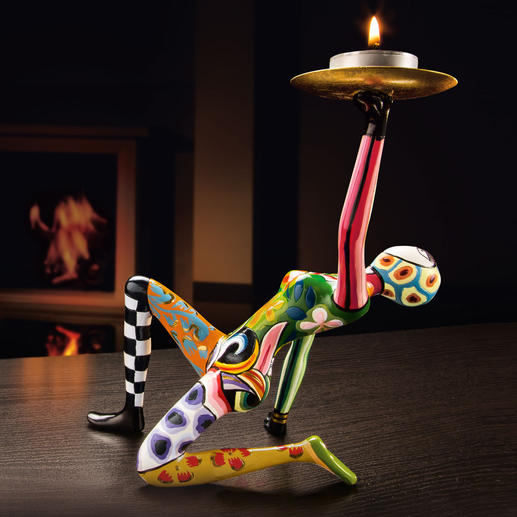 "Tom's ""Acrobat"" Sculptures Hand-painted sculptures from the ""Circus Collection"" by award-winning pop artist Tom Hoffmann."