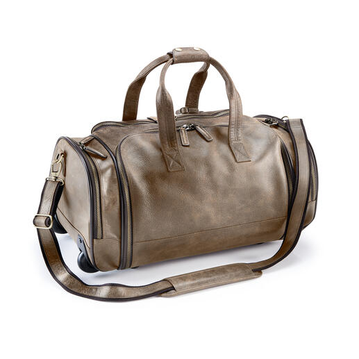 Bison Travel Suitcase or Bag - Indestructible bison leather. Huge capacity.