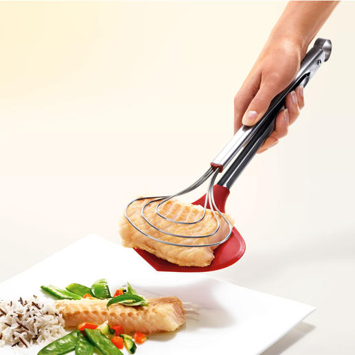 XXL Cooking Tongs Extra wide cooking tongs – even the most delicate foods can now be held securely.