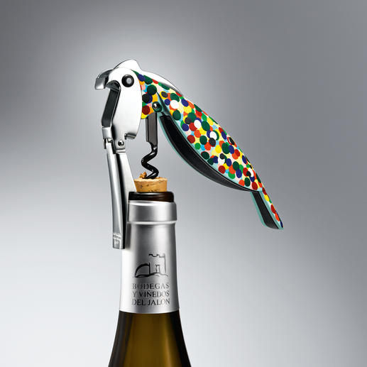 "Sommelier Corkscrew ""Parrot"" The preferred tool of professional sommeliers – turned into a piece of art by Alessi."
