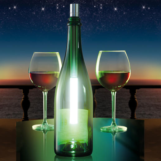 Bottlelight Transforms any empty wine or champagne bottle into an attractive lamp.
