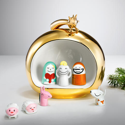 "Alessi ""Christmas Nativity"" Smart, friendly, colourful - a real eye-catcher in precious, hand-painted porcelain."