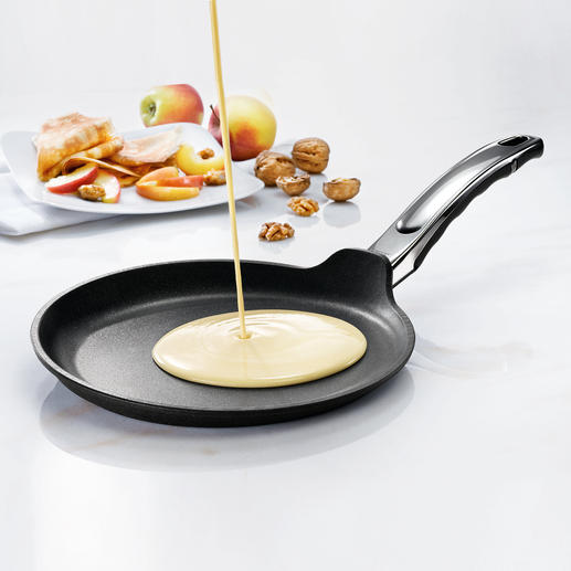 BAF Fischbach Crêpe Pan - The winner of our crêpe pan test. Made from highly conductive, hand-cast aluminium with non-stick coating.