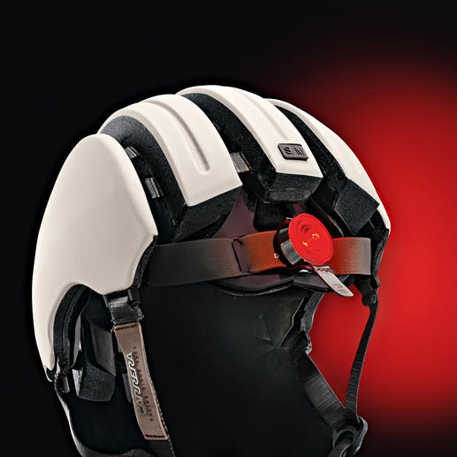 This premium cycling helmet comes equipped with a rear LED that can be switched on as needed.