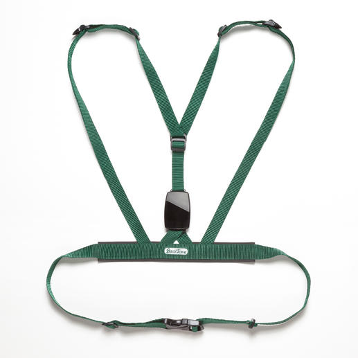 "All the straps can be individually adjusted. The soft harness ensures maximum comfort. The small 6.5 x 4.4cm (2.5"" x 1.7"") unit on your back uses the bio-feedback method."