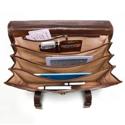Compartments – 1 with zipped pocket, mobile phone pocket, 2 pen pockets and 2 slots for credit cards – keep everything in order.