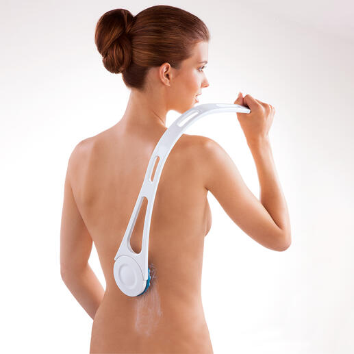 Back Lotion Applicator Set The easy way to apply lotion to your back - after a bath, the sauna, at the beach, etc.