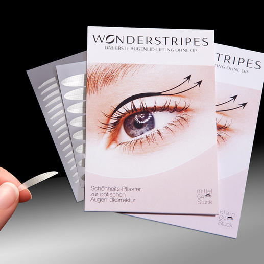 WONDERSTRIPES Probably the first nonsurgical eyelid lift ever. Simple and painless.
