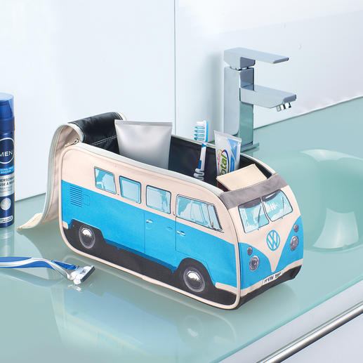 Toiletry Bag VW Camper Van - Once a cult bus – now a toiletry bag. Still here to accompany you on every trip. Officially licensed.
