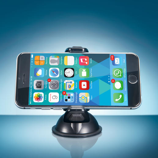 The 360° swivelling and tiltable ball joint lets you set up any mobile device at a perfect viewing angle.