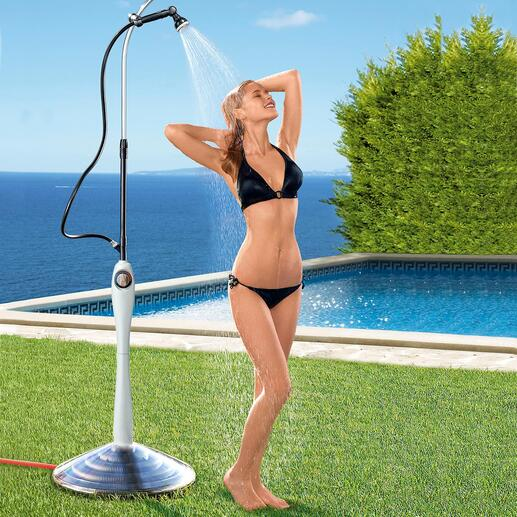 Sunny Premium Solar Shower Lovely warm water instead of a cold shower – powered by the sun.