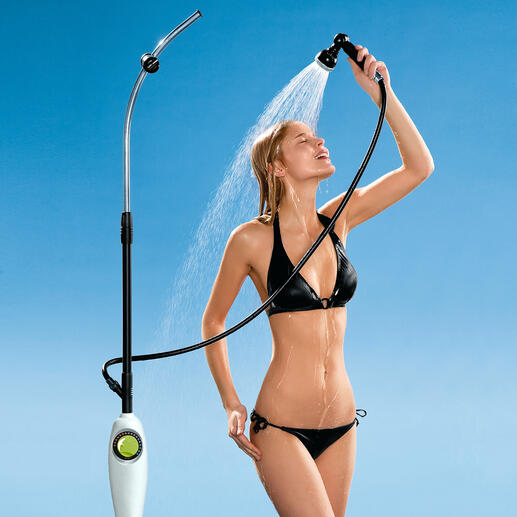 "The shower holder is fully height-adjustable from 1.40 – 2.10m (4ft6"" – 6ft8""), and the head is detachable."