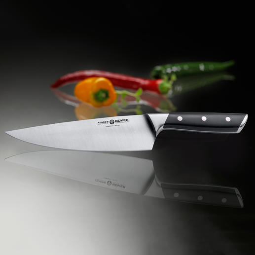 "Böker ""Forge"" knife series Consistently sharp & precise. Solid & robust – suitable for every day kitchen jobs – even the tough ones."