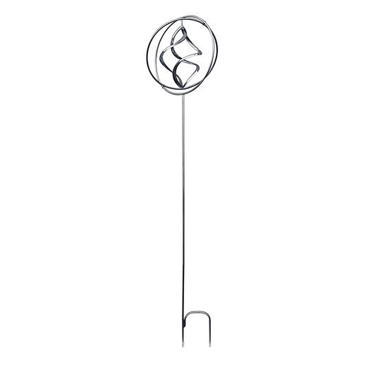 With the 47cm long midsection the wind chime is 1.70m high and 1.23m without it.