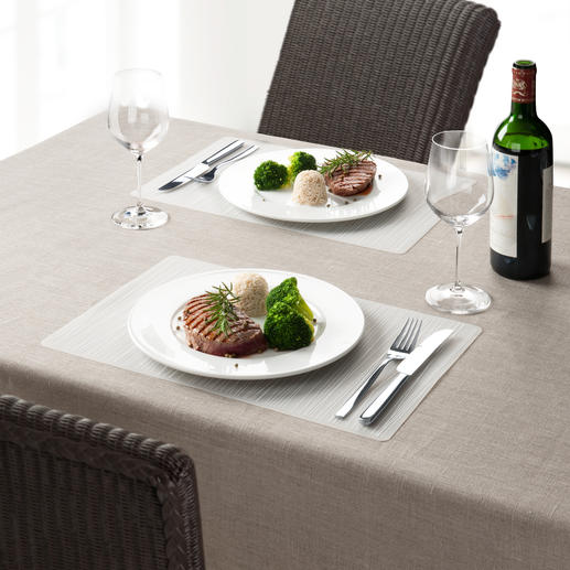 Silicone Placemat, Set of 4 Flexible silicone placemats that stay in shape. Dishwasher safe.