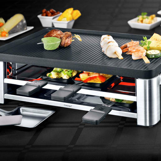 WMF Combo Raclette Grill LONO - Raclette, table grill and crêpe maker in one stylish device. Suitable for 8 people.