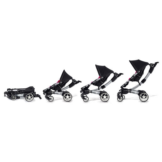 """From a 97 x 50 x 53cm (38"""" x 20"""" x 21"""") large package to a full-sized stroller within 5 seconds."""