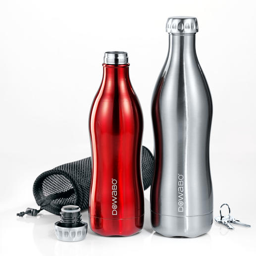 DoWaBo® Vacuum Flask - Finally, a vacuum flask suitable for carbonated beverages. A stylish design in double-walled stainless steel.