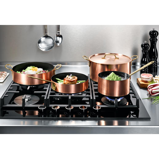 Induction-copper-cookware Combines the outstanding heating qualities of copper with the speed and precision of modern induction hobs.